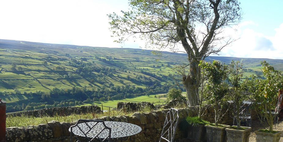 View from terrace over Swaledale