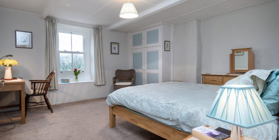 Master bedroom with lovely views over Swaledale