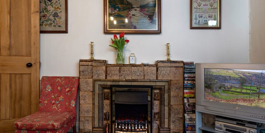 Feature 1930s fireplace